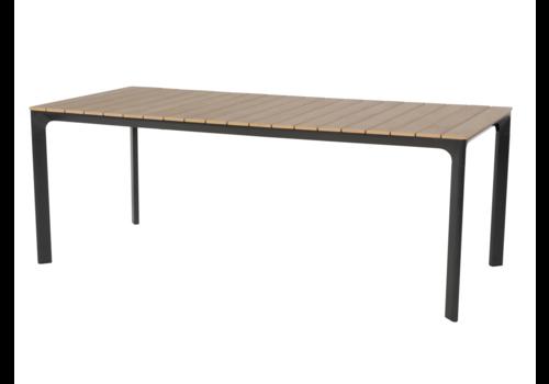 Tuintafel - Arezzo - Aluminium/Polywood - 200x90 cm - Lesli Living