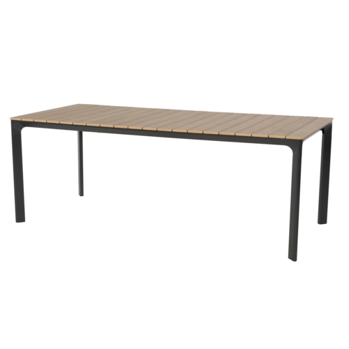 Lesli Living  Tuintafel - Arezzo - Aluminium/Polywood - 200x90 cm - Lesli Living