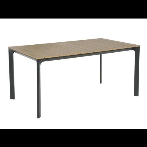 Lesli Living  Tuintafel - Arezzo - Aluminium/Polywood - 160x90 cm - Lesli Living