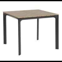 thumb-Tuintafel - Arezzo - Aluminium/Polywood - 90x90 cm - Lesli Living-2