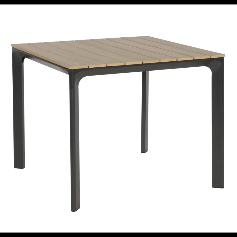 Tuintafel - Arezzo - Aluminium/Polywood - 90x90 cm - Lesli Living-2