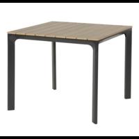 thumb-Tuintafel - Arezzo - Aluminium/Polywood - 90x90 cm - Lesli Living-1