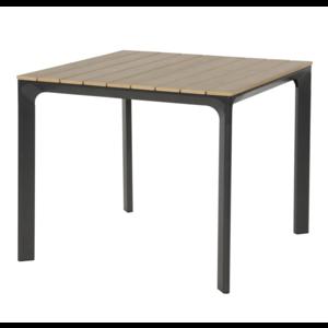 Lesli Living  Tuintafel - Arezzo - Aluminium/Polywood - 90x90 cm - Lesli Living