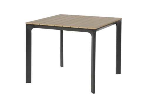 Tuintafel - Arezzo - Aluminium/Polywood - 90x90 cm - Lesli Living