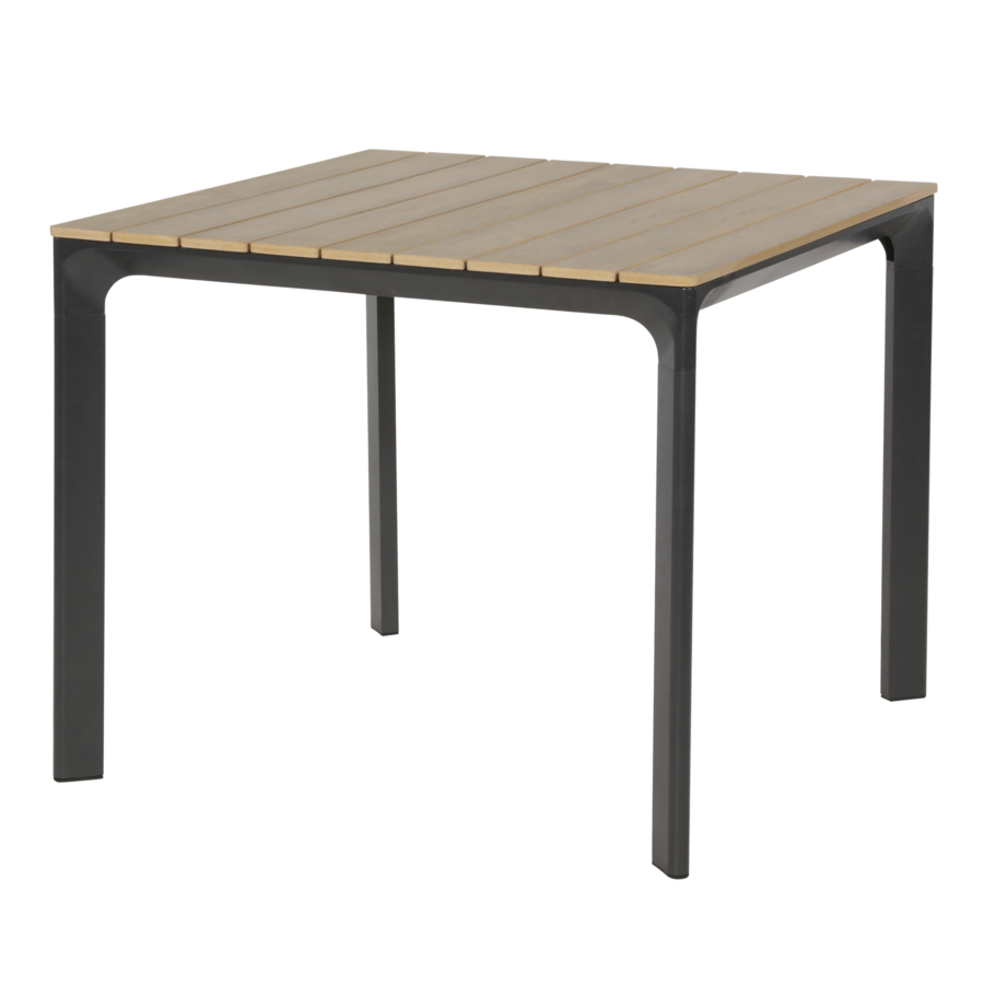 Tuintafel - Arezzo - Aluminium/Polywood - 90x90 cm - Lesli Living-1