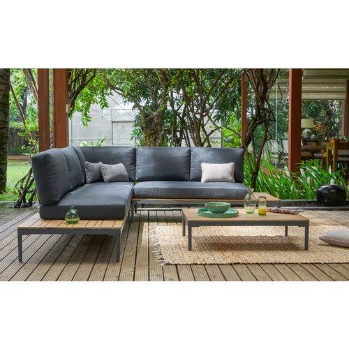 Garden Interiors Hoek Loungeset - Colombus - Acacia/Aluminium - Antraciet - Garden Interiors
