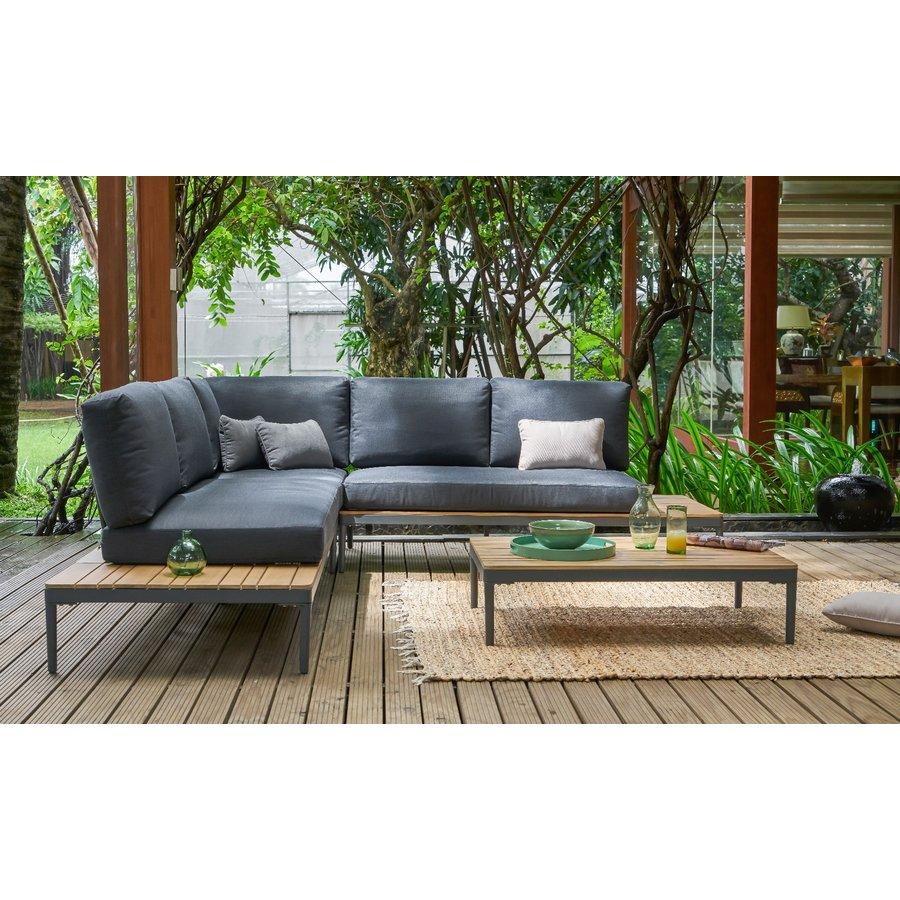 Hoek Loungeset - Colombus - Acacia/Aluminium - Antraciet - Garden Interiors-3