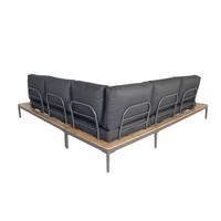 thumb-Hoek Loungeset - Colombus - Acacia/Aluminium - Antraciet - Garden Interiors-2