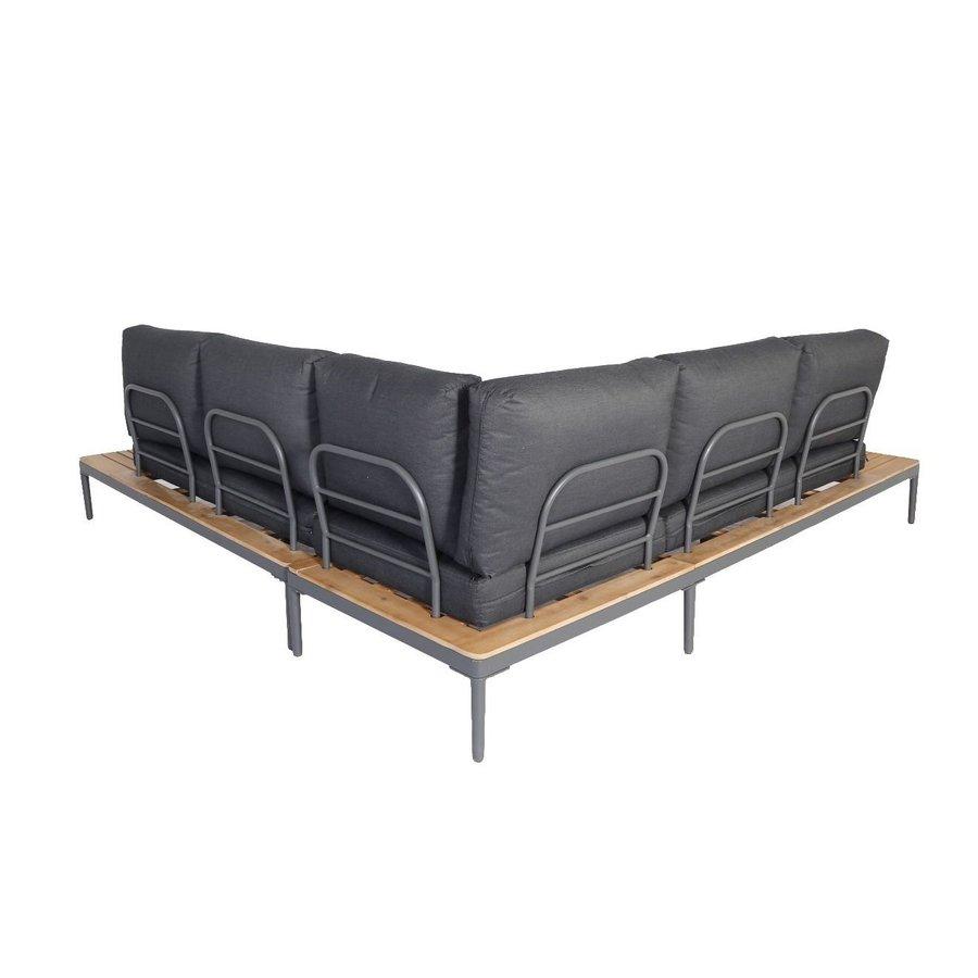Hoek Loungeset - Colombus - Acacia/Aluminium - Antraciet - Garden Interiors-2