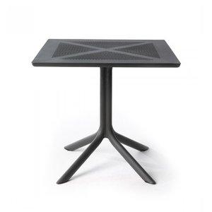Nardi Bistrotafel - CLIPX - Antraciet - 80x80 cm - Nardi
