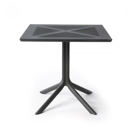 Nardi Bistrotafel - CLIPX - Antraciet - Kunststof - 80x80 cm - Nardi