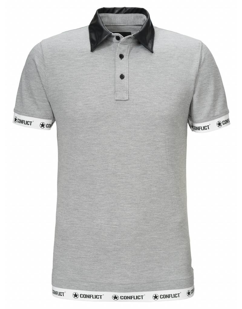 Conflict CONFLICT Leather Polo GREY