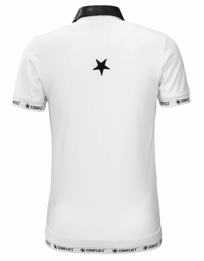 Conflict CONFLICT Leather Polo WHITE