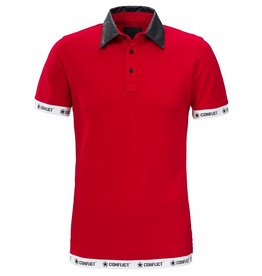 Conflict CONFLICT Leather Polo RED