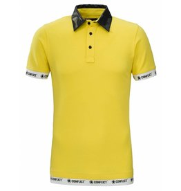 Conflict CONFLICT Leather Polo YELLOW