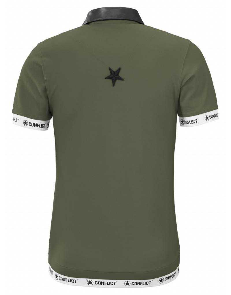 Conflict CONFLICT Leather Polo ARMY