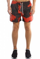 Conflict CONFLICT Camo Swim Short Red