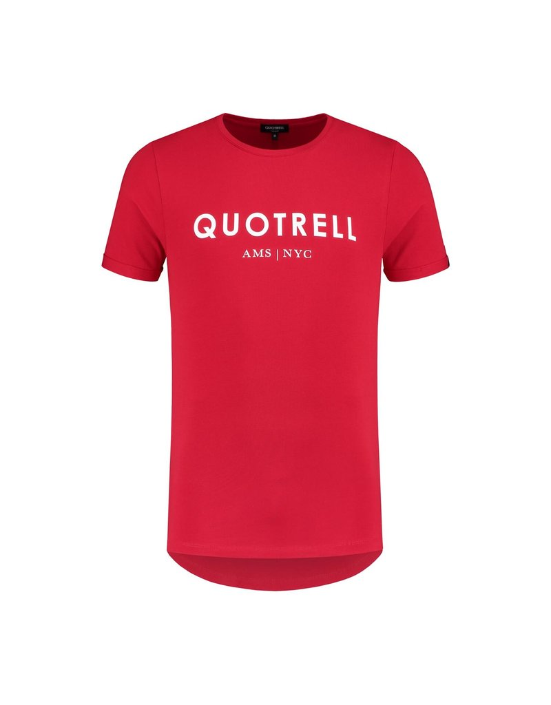 Quotrell QUOTRELL Basic Tee Red/White