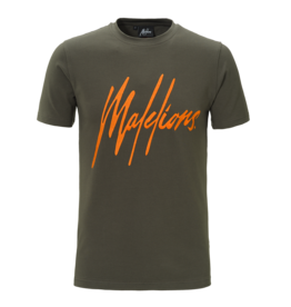 Malelions Malelions Signature Tee Khaki/Orange