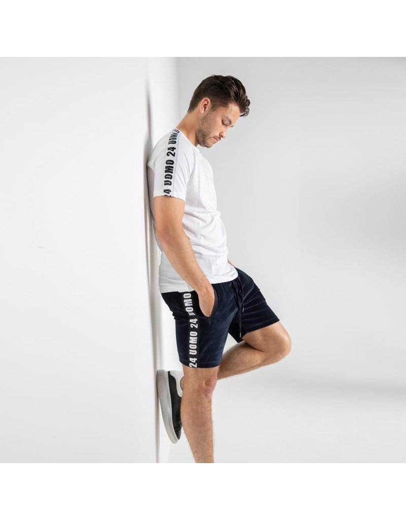 24uomo 24Uomo Taped Short Navy