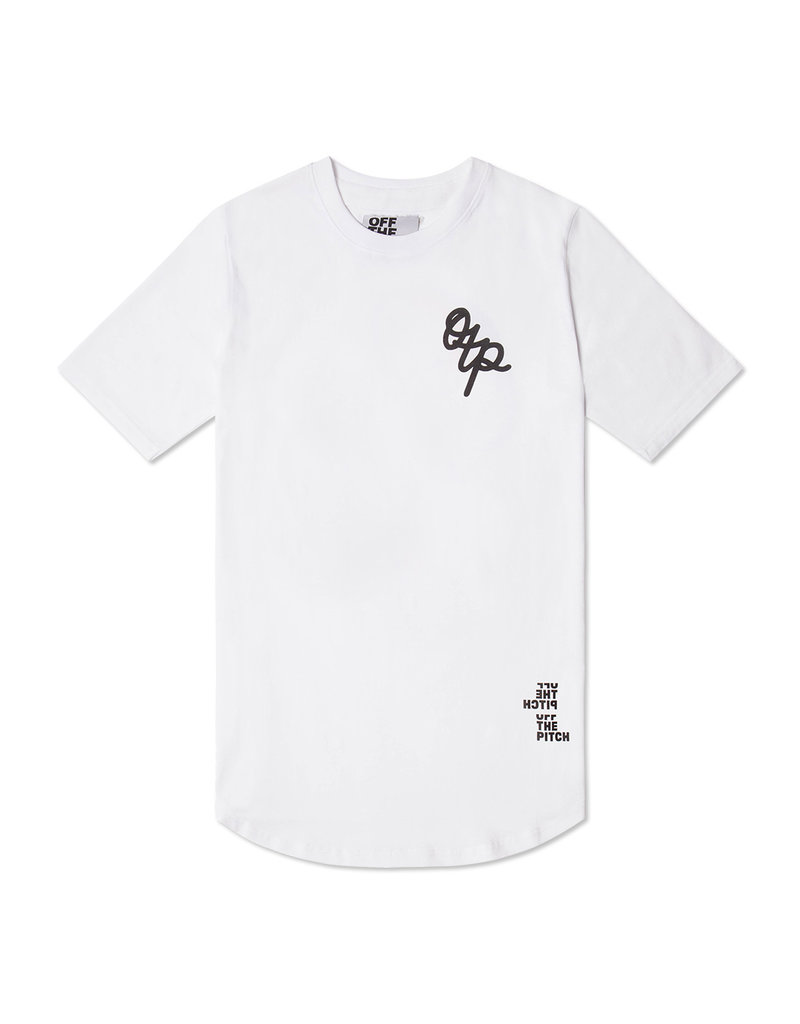 Off The Pitch OFF THE PITCH Handwritten Tee White