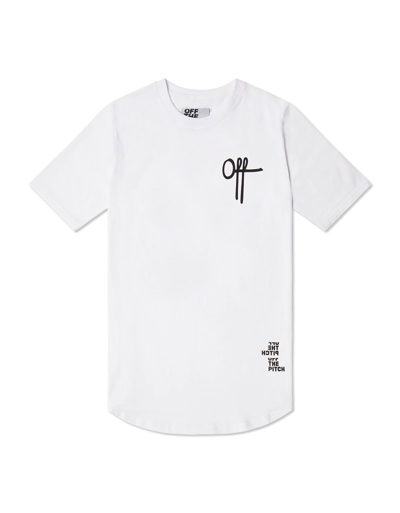 Off The Pitch OFF THE PITCH Off Printed Tee White