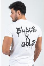 Black & Gold Dossografitas Tee White