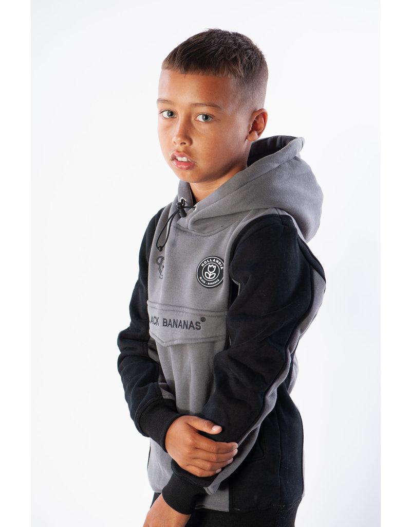 Black Bananas BLCK BNNS Kids Anorak Block Hoodie Grey