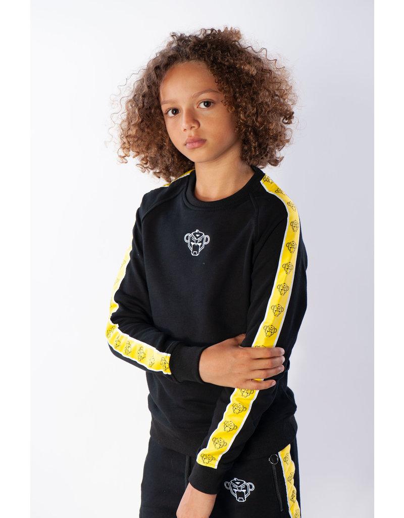 Black Bananas BLCK BNNS Kids Monkey Tape Crewneck Black