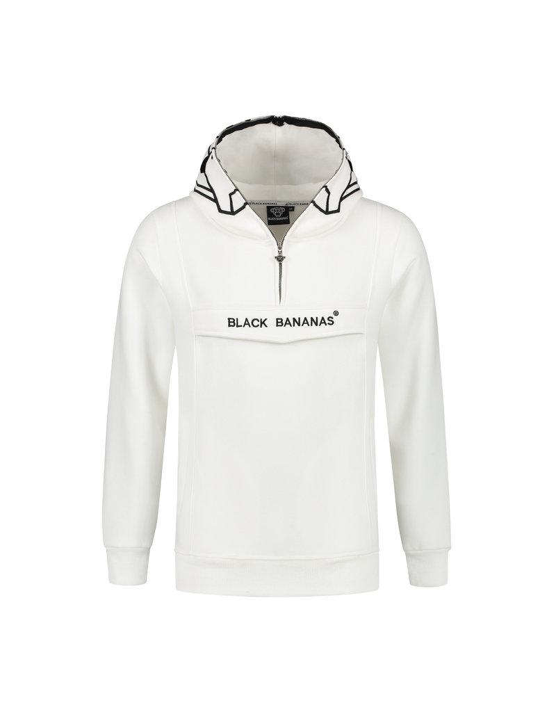 Black Bananas BLCK BNNS Anorak Incognito White