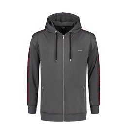 Quotrell QUOTRELL Admiral Tracksuit Dark Grey/Red