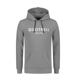 Quotrell QUOTRELL Basic Hoodie Grey/White