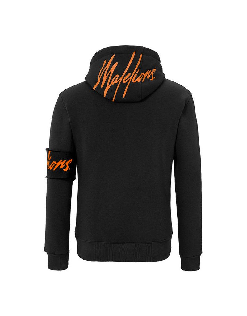Malelions Malelions Captain Hoodie 2.0 Black/Orange