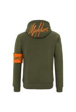 Malelions Malelions Captain Hoodie 2.0 Army/Orange