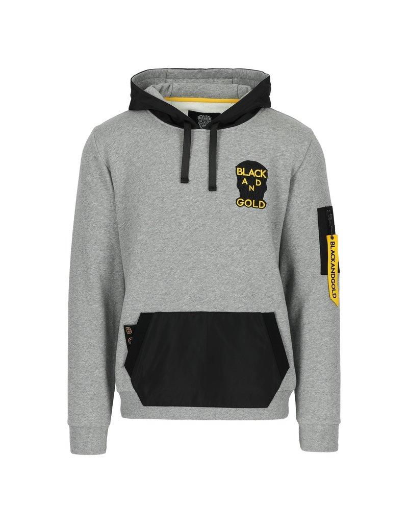 Black & Gold Santinos Hoodie Grey