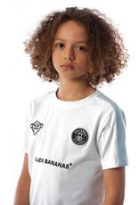 Black Bananas BLCK BNNS Kids Stripe Tee White/Baby Blue