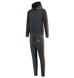 Black Bananas BLCK BNNS Incognito Tracksuit Grey/Orange