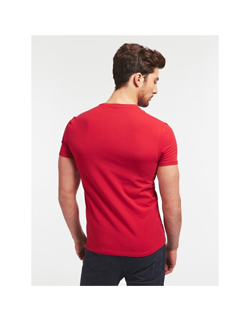GUESS Small Patch Shirt Red