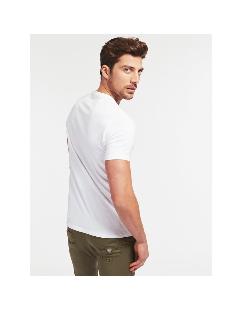 GUESS Small Patch Shirt White