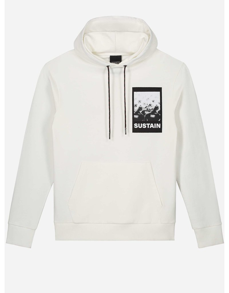 SUSTAIN SUSTAIN Scribble Oversized Hoodie OffWhite