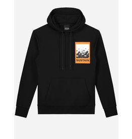 SUSTAIN SUSTAIN Scribble Oversized Hoodie Black