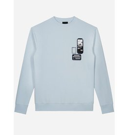 SUSTAIN SUSTAIN Patches Oversized Sweater Ice Blue