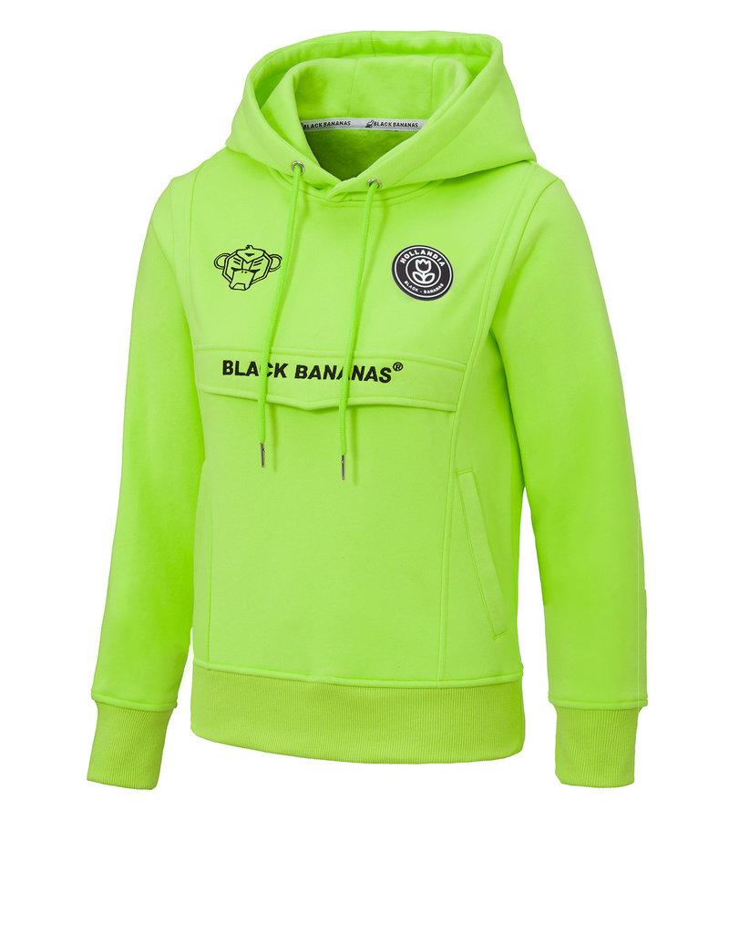 Black Bananas BLCK BNNS Kids Anorak Hoodie Neon Green