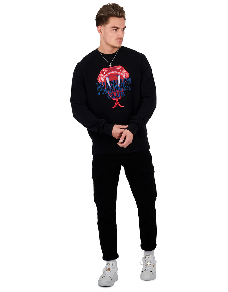 Pharmacy Club PC Big Snake Sweater Black