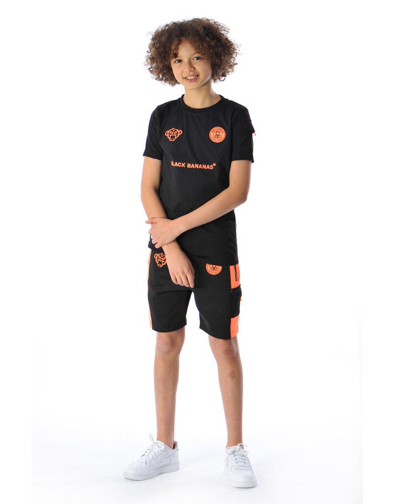 Black Bananas BLCK BNNS Kids Goal Short Black/Orange