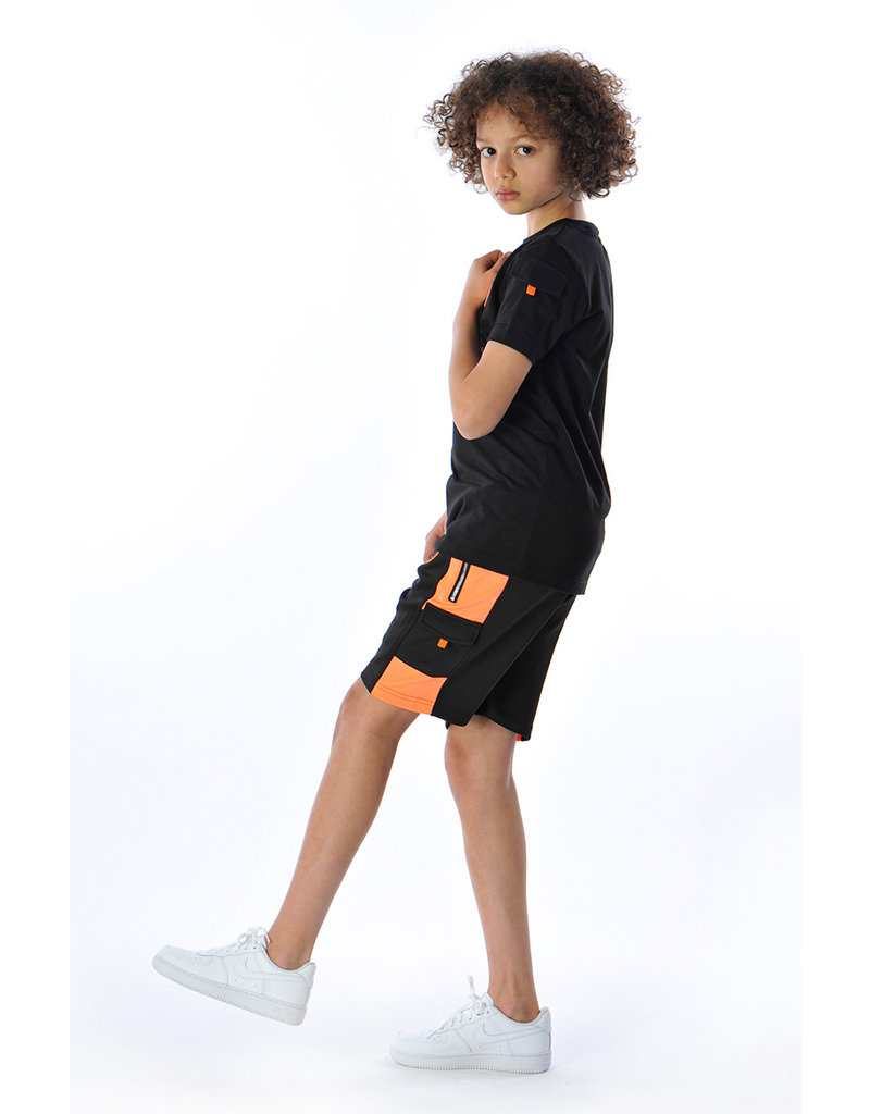 Black Bananas BLCK BNNS Kids Goal Tee Black/Orange