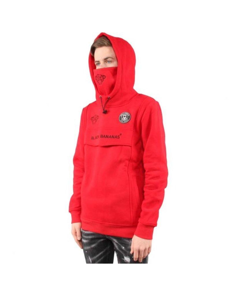 Black Bananas BLCK BNNS Kids Mask Hoodie Red