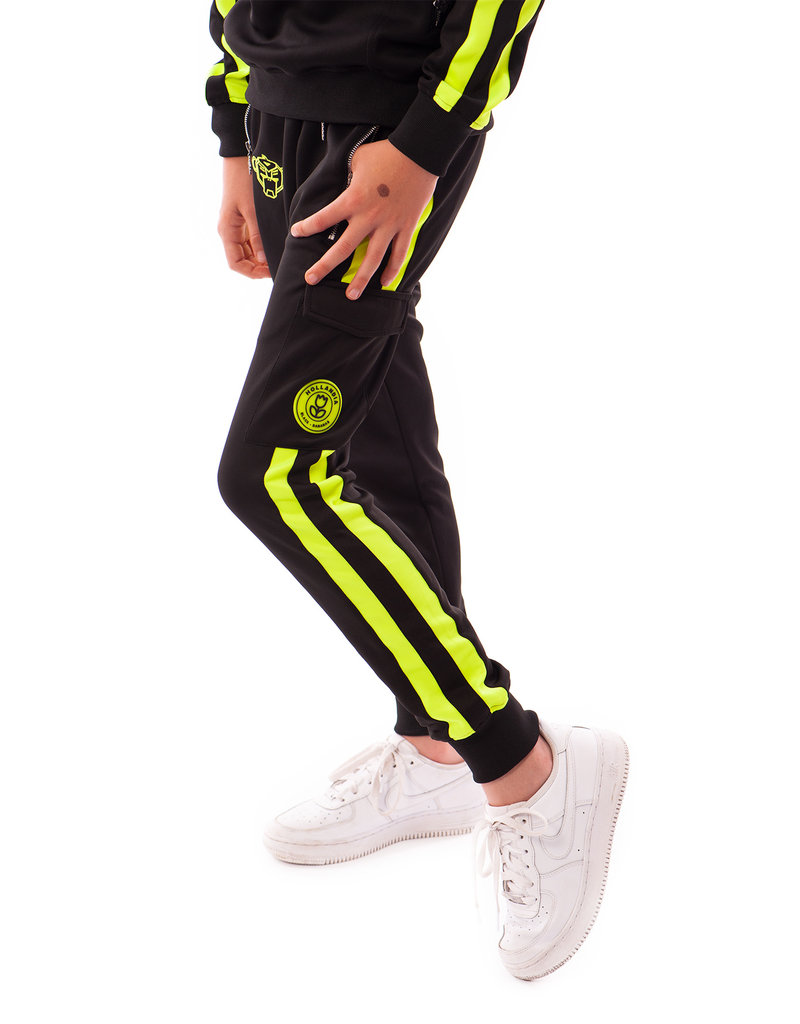 Black Bananas BLCK BNNS Jr Neon Crew Tracksuit Black/Neon Green