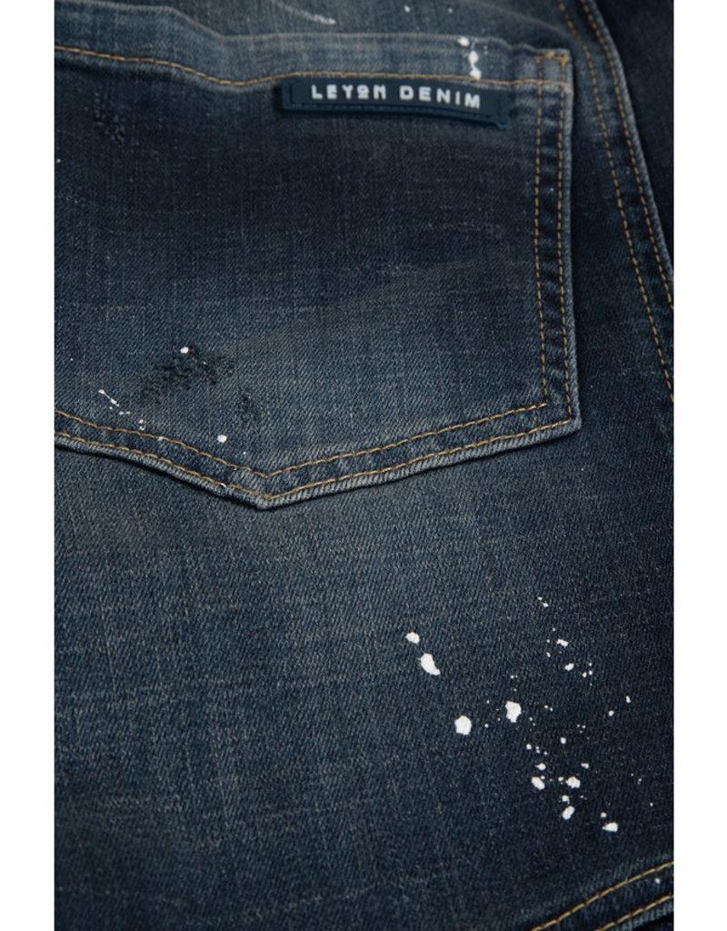 Leyon Leyon Ribbed Blue Spotted Jeans