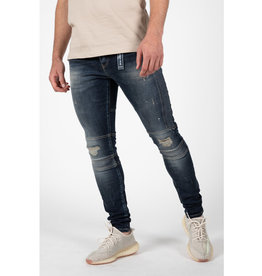 Leyon Leyon Ribbed Blue Spotted Jeans